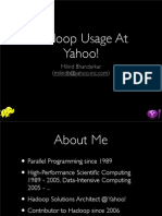 Hadoop Usage at Yahoo!
