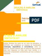 SLIDE Introdução Analise Sintática-SENAC