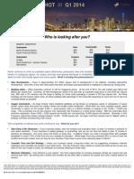 Faller Market Report Q1 2014