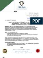 PR- Future H1N1 Flu Clinics 11 17 09