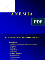 Anemia (Syptoms and Signs)