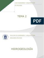 Tema 02 - Hidrogeología