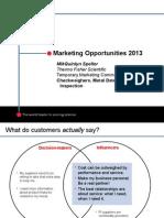 Marketing Opportunities 2013