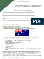 HSC Online - Australian Values