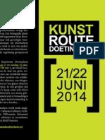 Folder Kunstroute Doetinchem 2014