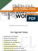 Hacking the Verbal Code-CL Noida-Sec 18