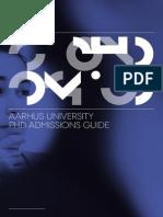 Phd Admissions Guide AARHUS UNIV DENMARK