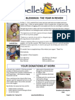 Anabelle's Wish Spring 2014 Newsletter