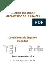 Analisis Del Lugar Geometrico de Las Raices