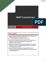 ABAP Fundamentals