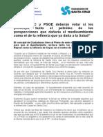 """Guigou """"CC y PSOE Deberán Votar Si Les Preocupa Tanto El Petróleo de Las Prospecciones Que Dañaría El Medioambiente Como El de La Refinería Que Ya Daña a La Salud"""" (1)"""
