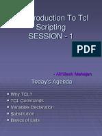 TCL Scripting Session 1