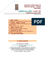 LAMPEA-Doc 2009 – numéro 39 / Vendredi 20 novembre 2009