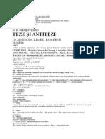 123120406 D D Drasoveanu Teze Si Antiteze in Sintaxa Limbii Romane