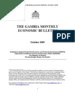 Gambia Monthly Economic Bulletin October 2009