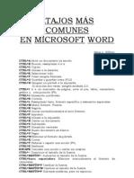 ATAJOS MÁS COMUNES EN M. WORD