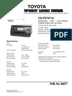 Panasonic Cq-ts7471a (Toyota) Service Manual