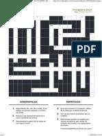 Imprimir Crucigrama Excel. EducaciÓn