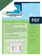 Diseño de Facturas en Excel_ Diseño de Facturas en Excel