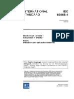 IEC60865-1 (Norme Jeu de Barres )