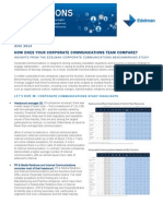 Insights from the Edelman Corporate Communications Benchmarking Study