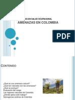 Amenazas en Colombia Introducción