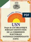 Projet de Loi Organique Portant Institution de La Commission Electorale Nationale Independante –Ceni