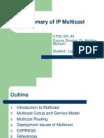 Multi Cast Summary Pp t 1469