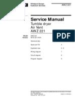 91635354 Whirlpool AWZ 221 Service Manual