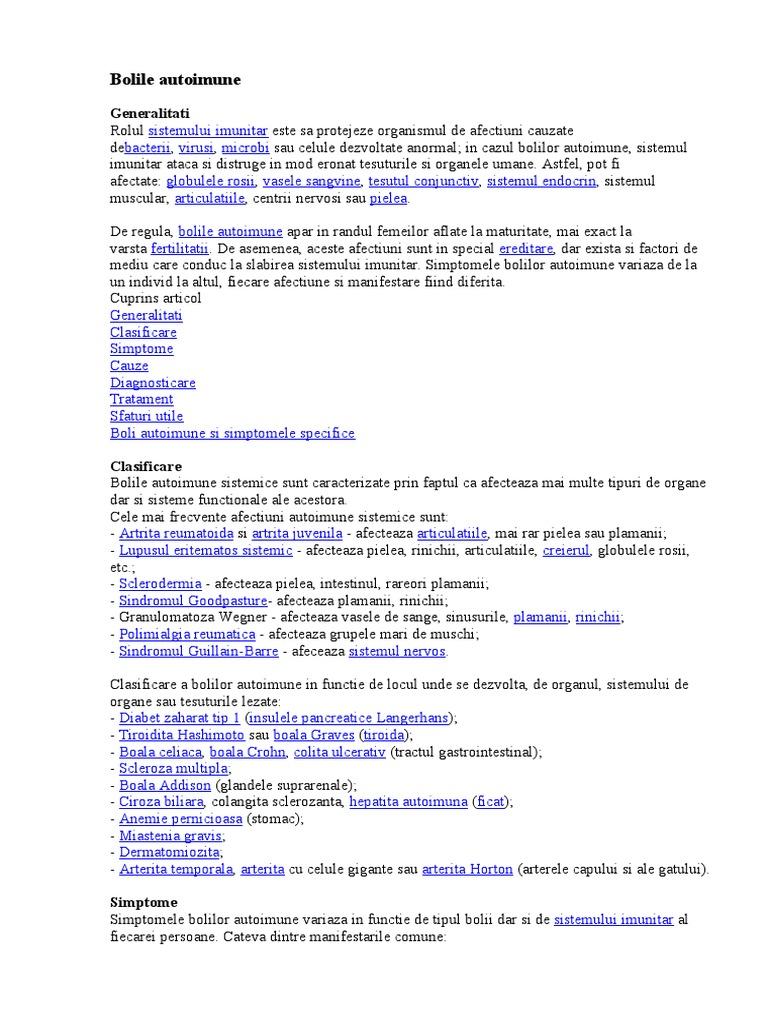 Lista bolilor autoimune ale țesutului conjunctiv)