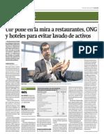UIF Observa Restaurantes, OnG y Hoteles Para Evitar Lavado de Activos_Gestión 4-06-2014