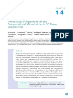 Integration of Experimental and Computational Microfluidics in 3D Tissue Engineering