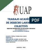 Trabajo Academico de Derecho Laboral II - Colectivo