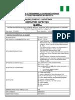 Nigeria Data Sheet for Importation