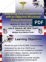 Assessing Core Competencies Us in Go Sce