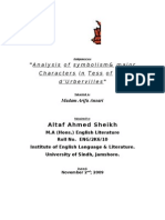 Analysis of Symbolism & Major Characters in Tess d'Urbivilles