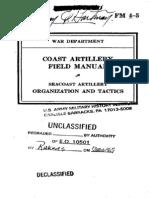Coast Artillery Organization (1940)