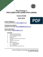 Y1 Course Handbook 2013-14