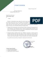 Surat Permohonan Dukungan Pelaksanaan PODES 2014