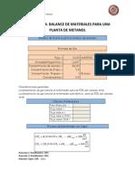 Practica 5. Metanol
