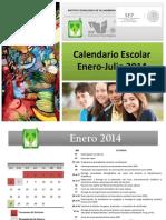 Calendario Escolar Enero-jul 2014