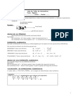 Guía Àlgebra MEDIA 3 y 4