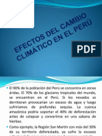 Efectos Del Cambio Climático en El Perú