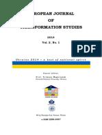 european journal transformation  studies vol  2 no 1