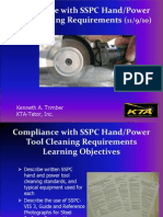 SSPC Hand/Power Tool Cleaning Requirements