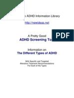 ADHD Screening Test (PDF)