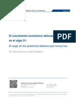 El crecimiento económico latinoamericano  en el siglo 21