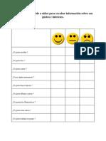 Cuestionario Dirigido a Niños Para Recabar Información Sobre Sus Gustos e Intereses