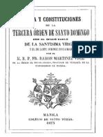 Regla y Constituciones de La Tercere Orden de Santo Domingo