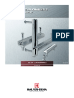 Halfen Cast-In Channel Technical Catalogue